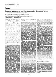 Oxidants, antioxidants, and the degenerative diseasesof aging