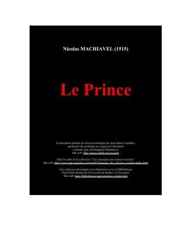 Le Prince - philoserveur