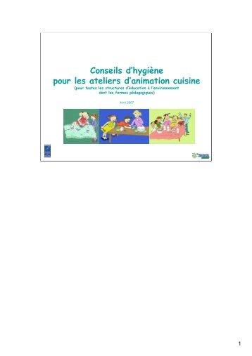 Conseils d'hygiène pour les ateliers d'animation cuisine - Bergerie ...