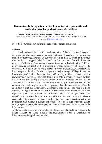 Evaluation de la typicité des vins liés au terroir ... - Oiv2010.ge