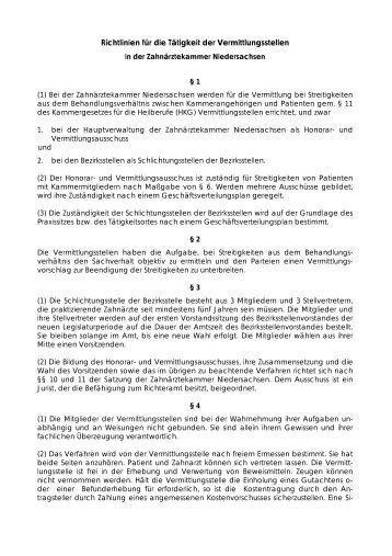 PDF-Dokument - Zahnärztekammer Niedersachsen