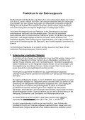 Praktikum in der Zahnarztpraxis - Zahnärztekammer Niedersachsen - Page 2