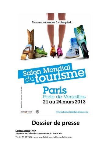 Téléchargez le dossier de presse 2013 - Salon Mondial du Tourisme