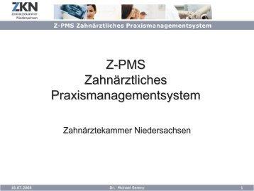 Z-PMS Qualitätsmanagement - Zahnärztekammer Niedersachsen