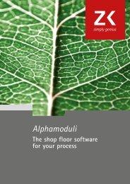 Catalogue Alphamoduli software solutions (english) - Zimmer & Kreim