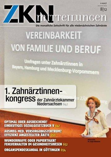 1. Zahnärztinnen- - Zahnärztekammer Niedersachsen