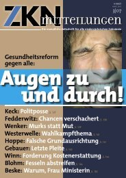 Gegen Alle - Zahnärztekammer Niedersachsen