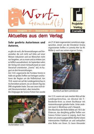Wort-Gewand(t) 17.pmd - Projekte-Verlag Cornelius