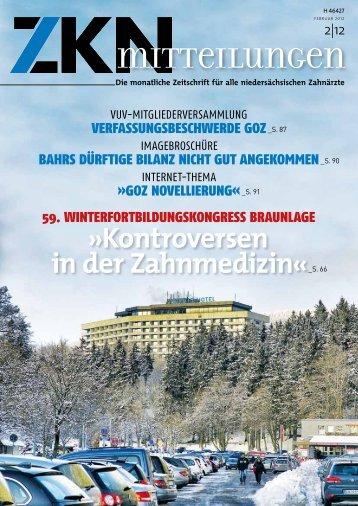 Kontroversen in der Zahnmedizin« - Zahnärztekammer Niedersachsen