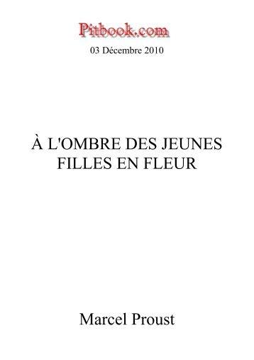 À L'OMBRE DES JEUNES FILLES EN FLEUR Marcel ... - Pitbook.com