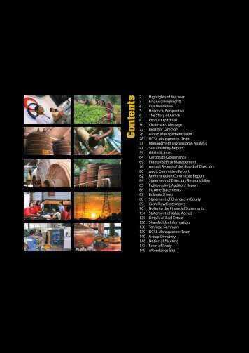 Annual Report 2011/2012 - Distilleries Company of Sri Lanka Limited
