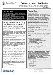 Brewers and distillers information and checklist - Department of ...