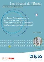 Le Private Risk Management : l'opportunité de transformer la ...