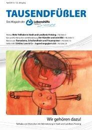 2013 April / Lebenshilfe Freising / Tausendfüßler-Magazin