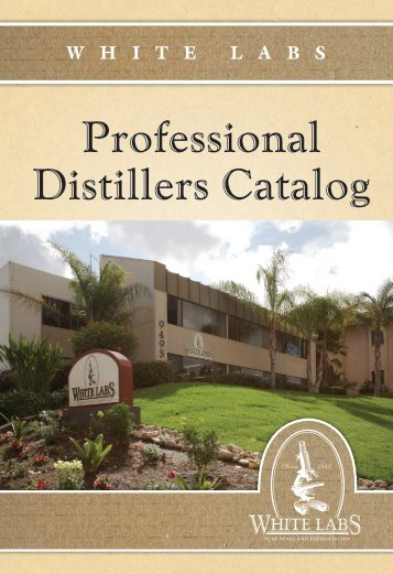 Professional Distillers Catalog - White Labs