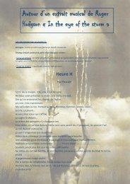 Autour d'un extrait musical de Roger Hodgson « In ... - Pierre Luneval