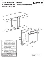 Dimensions de produit [PDF] - Miele