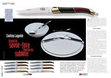 Le couteau Laguiole - presstourism.ch