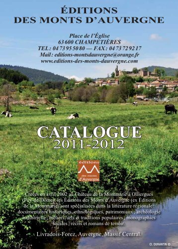 CATALOGUE - editions des monts d'auvergne