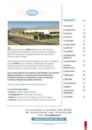 Catalogue Outillage et petit matériel - Mapal