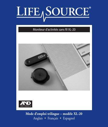 Mode d'emploi trilingue – modèle XL-20 Anglais ... - A&D Medical