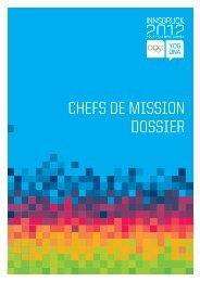 CHEFS DE MISSION DOSSIER - Youth Olympic Games