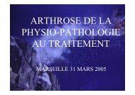 arthrose de la physio-pathologie au traitement - Christian Gal