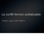 Le conflit femoro acétabulaire