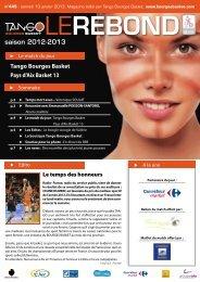 format PDF pour Ipad, Iphone - Bourges Basket