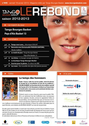 format PDF pour Ipad, Iphone - Bourges Basket
