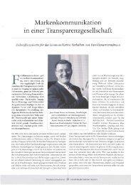 Markenkollllllunikation in einer Transparenzgesellschaft