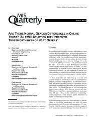 ARE THERE NEURAL GENDER DIFFERENCES IN ONLINE TRUST ...