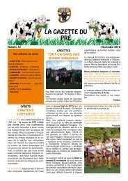 Gazette n°12 - Rugby club Roubaix