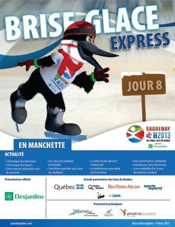 Brise-Glace Express | Jour 8 - 48e finale des Jeux Du Québec ...