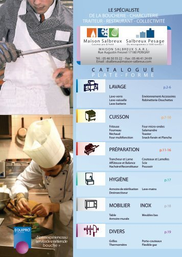 Consultez notre catalogue en ligne « Petit Matériel - Maison-Salbreux