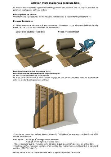 Offre de plaques de bois reconstitu li au ciment cetris - Isolation mur ossature bois ...