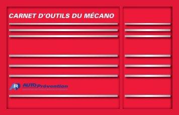 Carnet d'outils du mécano