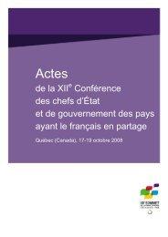 Xe Conférence des chefs d'État et de gouvernement des pays ayant ...