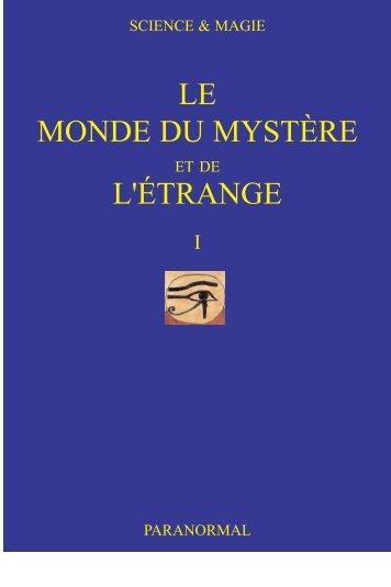 LE MONDE DU MYSTÈRE L'ÉTRANGE - Science-et-Magie