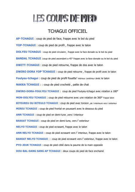 TCHAGUI OFFICIEL - taekwondo challans