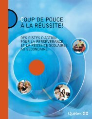 COUP DE POUCE À LA RéUSSITE! - Ministère de l'Éducation, du ...