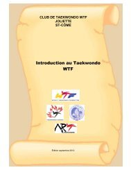 Introduction au Taekwondo WTF