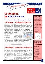 Journal Coup d'envoi (edition 2 - juin 2007) - Document sans titre