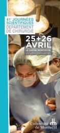 Programme des Journées scientifiques 2013. - Département de ...