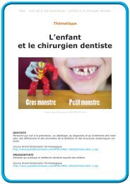 L'enfant et le chirurgien dentiste