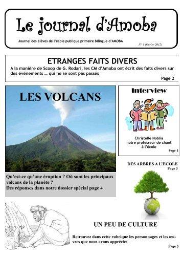 Le Journal d'Amoba n°1 (février 2012) - Ecole primaire publique ...