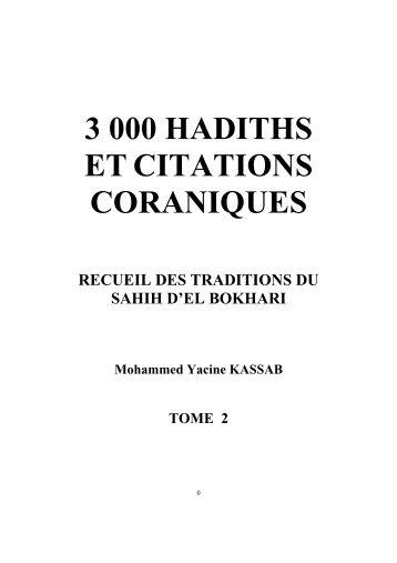 3 000 hadiths et citations coraniques - Hadith Du Jour