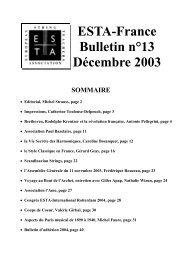 ESTA-France Bulletin n°13 Décembre 2003