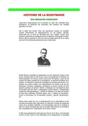 R.Steiner Rudolf Steiner et la biodynamie