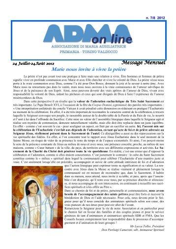Marie nous invite à vivre la prière - Turin-Valdocco